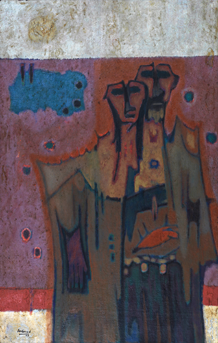 Refugee of 71, 110 X 70 cm, 2005, Oil on canvas